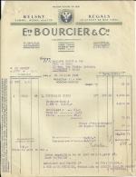 IVRY  Ets BOURCIER & Cie RELSKY REGALS   22.07.1948 - Alimentaire
