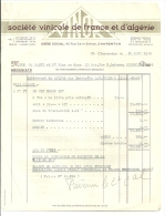 CHARENTON  Societe Vinicole De FRANCE Et D'ALGERIE         10.03.1948 - Alimentaire