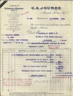 BORDEAUX  G. A. JOURDE  Jourde Freres Suc   Liqueur CORDIAL MEDOC Digestif       13.02.1948 - Alimentaire