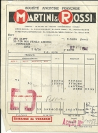 St OUEN  Societe Anonyme FRancaise  MARTINI & ROSSI       22.10.1948 - Alimentaire