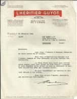 DIJON  L HERITIER GUYOT  Specialite De Cassis          21.12.1948   2 Pages - Alimentaire