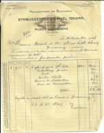 Puget Sur Argens   Etablissements DANIEL ISNARD  Manufacture De Bouchons     26.11.1948 - Alimentaire