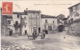 TURRIERS 1042m : La Place Et La Fontaine Publique - Frankrijk