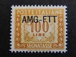 "ITALIA Trieste AMG-FTT Segnatasse-1949-54- ""Cifra"" £. 100 MH* (descrizione) - 7. Triest"