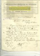 74 - Haute-savoie - SCIONZIER - Facture MUGNIER - Mécanique – 1920 - 1900 – 1949