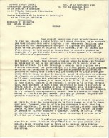 COURRIER Detaillant La Mort  De Jean Poiré F.T.P.F   Fusillé Par Les Allemands  Comme Resistant - Documenten