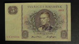 Sweden - 5 Kronor - 1963 - P 50b - Unc - Look Scan - Schweden