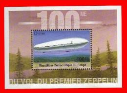 BL194** (2043) Centenaire Du Zeppelin / Honderd Jaar Zeppelin - CONGO - Dem. Republik Kongo (1997 - ...)