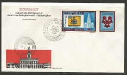 Hungary  1976   US Bicentennial   On FDC - Indépendance USA