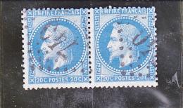 PAIRE N°29  - OBLITERATION GROS CHIFFRES -740 -CARPENTRAS- VAUCLUSE