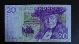 Sweden - 20 Kronor - 1997-2002 - P 63a - F (small Tear) - Look Scan - Suède