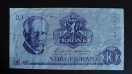 Norway - 10 Kroner - 1973 - P 36b - VF - Look Scan - Norwegen