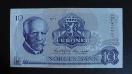 Norway - 10 Kroner - 1977 - P 36c - XF - Look Scan - Norwegen