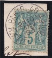 CACHET A DATE / PARIS / RUE ETIENNE DOLET - LOT STM1 - Marcophily (detached Stamps)