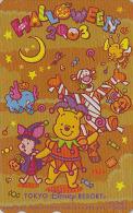 Télécarte Dorée Japon DISNEY / MF-1001934  - HALLOWEEN 2003 / WINNIE POOH Cochon & ELEPHANT - Japan Phonecard - Disney