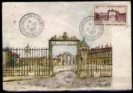Carte Château De Versailles, Cachet Congrès Du Parlement. Versailles. 17-12-1953 Sur Timbre N° 939 Y&T - Marcophilie (Lettres)