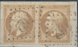 Lot N°22687  Paire Du N°21/fragment, Oblit GC 162 ARJUZANX (39), Ind 12 - 1862 Napoleon III
