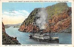 5611 S.S. Santa Teresa, De Grace & Co, Passing Through The Gaillard Cut, Panama Canal - Steamers
