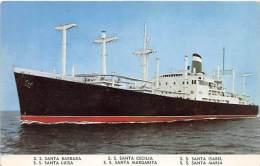 5615    S.S. Santa Barbara,  Grace Line - Steamers