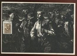 CARTE MAXIMUM CM Card USSR RUSSIA Art Painting Strike Mickevichus-Kapsukas Lithuania - 1923-1991 USSR