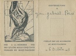 Photos De Jean Poiré Résistant Fusillé Par Les Allemands  Et De Sa Fille Claire De Sa Femme  MILITARIA    F.T.P.F - Documenten