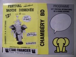 BD - HERMANN - Livret Du 13 éme Festival De BD De Chambéry - Affiches & Offsets