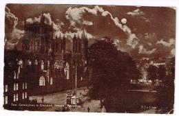 I683 Bristol - The Cathedral & College Green - Night View / Viaggiata - Bristol