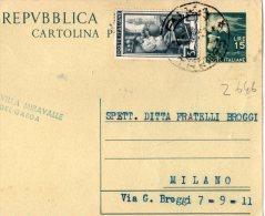 CARTOLINA POSTALE PUBBLICITARIA-ALBERGO VILLA MIRAVALLE -RIVA DEL GARDA-5-10-1951 - Kosovo