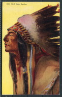 US Native American Red Indian Chief Eagle Feather - Ethnics
