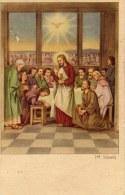 Gesù E Gli Apostoli Santino Per La Cresima (1955) - Santini
