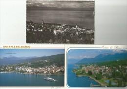 EVIAN-LES-BAINS Haute Savoie 3 Cartes - Evian-les-Bains