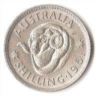 AUSTRALIE 1 SHILLING  1961  ARGENT - Monnaie Pré-décimale (1910-1965)