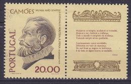 Portugal 1980 Mi. 1495      20.00 E Luis Vaz De Camoes M. Zierfeld Gedicht - 1910-... République