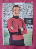 CARTE POSTALE COUPE DU MONDE DE FOOTBALL MEXICO 70 1970 MANFRED MANGLITZ  EQUIPE ALLEMANDE FC KOLN - Football