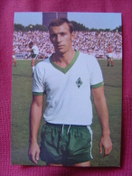 CARTE POSTALE COUPE DU MONDE DE FOOTBALL MEXICO 70 1970 HORST DIETER HOTTGES WERDER BREMEN - Football