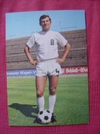 CARTE POSTALE COUPE DU MONDE DE FOOTBALL MEXICO 70 1970 LUDWIG MULLER  BORUSSIA MONCHENGLADBACH - Football