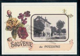 52  POISSONS  .....  ....  Gare. Souvenir Au Fusain Creation Moderne Série Limitée Et Numerotée 1 à 10 ... N° 2/10 - Poissons