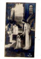 Image Pieuse , Souvenir De Communion Solennelle , église De Bossée , 1939 , Mauricette LARGEAU - Devotieprenten