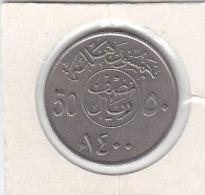 50 HALALA ' 10 Ghirsh) AH 1400 - Arabie Saoudite