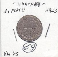 10 CENTESIMOS 1953 - Uruguay