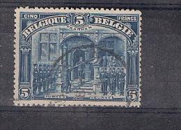 COB 147 - Vues Diverses - 5 FRANKEN Furnes -  Oblitéré - Etat Impecable - 1915-1920 Albert I