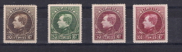 COB 289 -292 * - Albert I Montenez - Etat Impecable (voir Image) - 1929-1941 Big Montenez