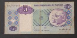 ANGOLA  5  KWANZA  1999     -    (Nº02989) - Angola