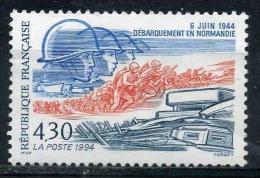 FRANCE 2887** 4f30 Bleu, Rouge Et Gris 50èm Anniversaire Du Débarquement Des Troupes Alliées En Normandie Le Débarquemen - Neufs