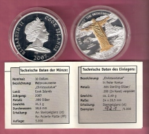 COOK ISLANDS $ 10 2007 PROOF SILVER + .999 GOLD PLATED CHRISTUSSTATUE  Nr. 921/5000 - Cook