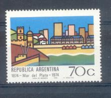 MAR DEL PLATA CENTENARIO AÑO 1974 MNH TBE ARGENTINA - Argentina