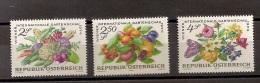 Österreich Austria 1974, Nr. 1444-1446, Gartenschau Obst Gemüse Blumen Postfrisch (mnh) - 1945-.... 2. Republik