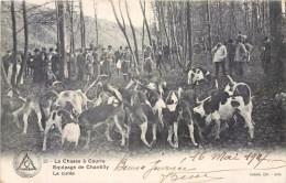CHASSE A COURRE EQUIPAGE DE CHANTILLY VENERIE HUNT LA CUREE DOG HUNT 1900 - Chasse