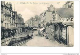 50 SAINT LO RUE TARTERON VUE DU GROUAIS CPA BON ETAT - Saint Lo