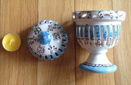 Pot En Terre Cuite De Tunisie Avec Sa Bougie Année 1980 - Oriental Art